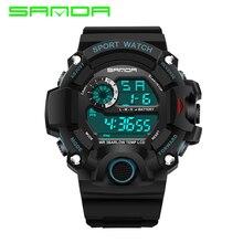 Для мужчин спортивные часы S-SHOCK военные часы Мода Наручные часы погружения Для мужчин спортивный светодиодный цифровые часы Водонепроницаемый Relogio Masculino