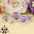 hot transparent acrylic skull logo ear plugs and tunnels piercing gauges sell by pair 10-25mm