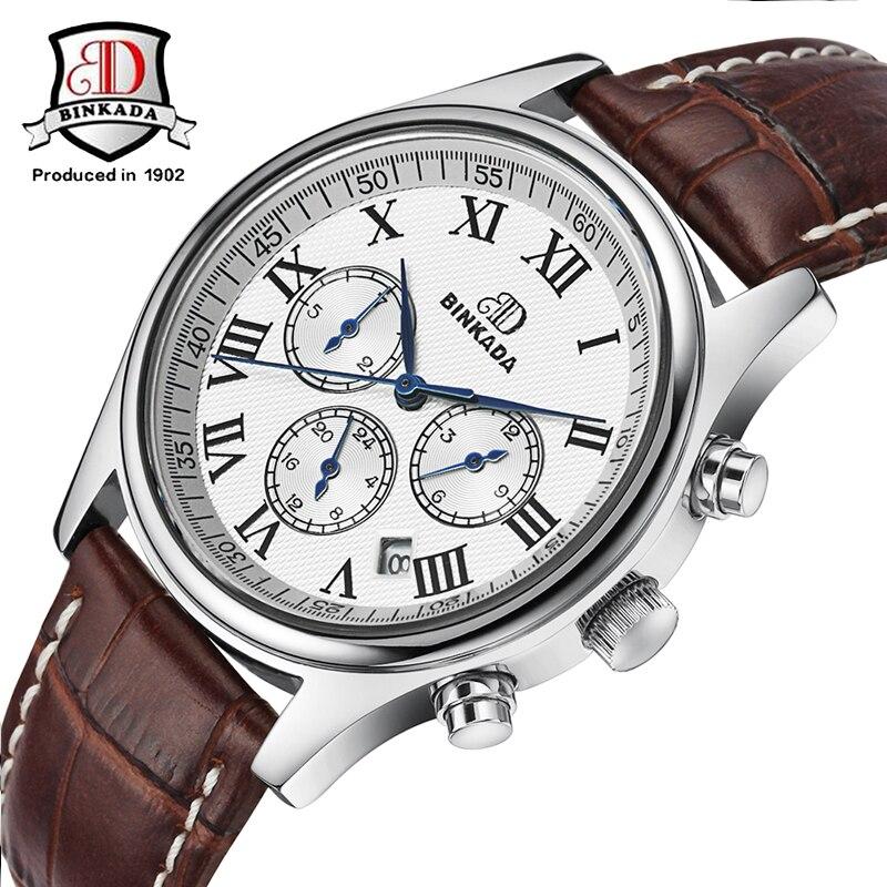 BINKADA Relojes Moda Hombre Correa de Acero Reloj Mecánico - Relojes para hombres