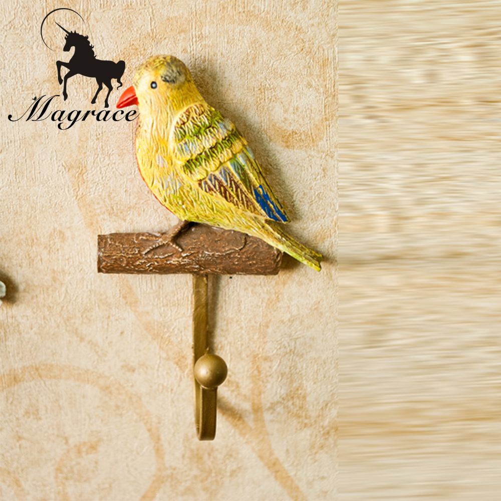 2017Durable Iron Metal Wall Hook Holder Home Decor Vintage Birds ...