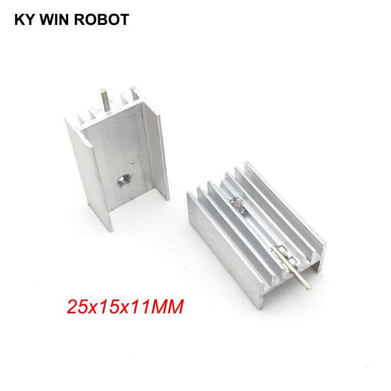 10pcs Free Shipping Aluminium TO-220 Heatsink TO 220 Heat Sink Transistor Radiator TO220 Cooler Cooling 25*15*11MM With 1 Pin
