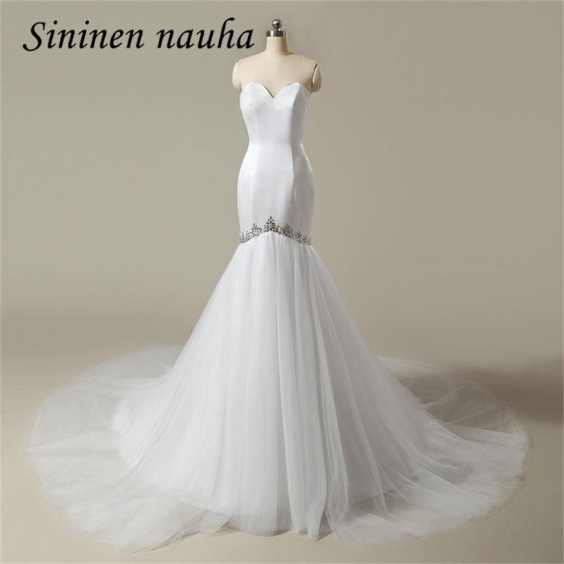 Mermaid Wedding Dresses 2018 Հարսանյաց զգեստներ Sweetheart Crystals Plus Size Cheap Dress Lace Up Vestido De Noiva Robe De Mariage 68