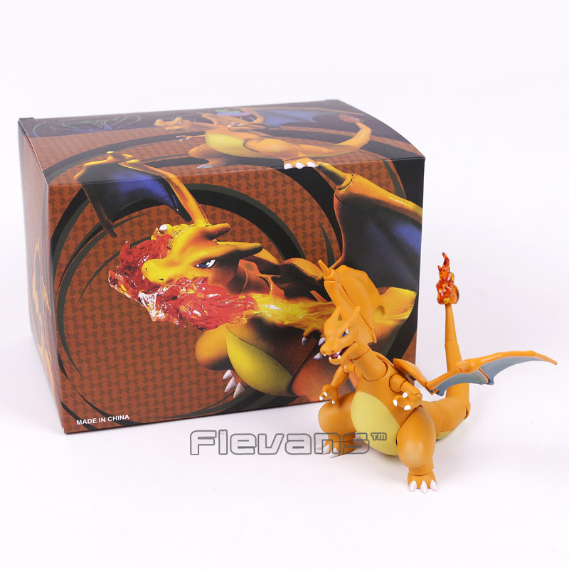 Anime Cartoon SHF SHFiguarts Charizard PVC Action Figure Collectible Model Toy 11cm neca planet of the apes gorilla soldier pvc action figure collectible toy 8 20cm