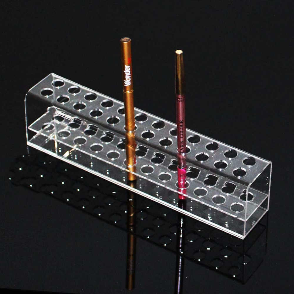 Transparent Acrylic Pen Rack Stationery Shelves Items Show The Pen Holder Eyebrow Pencil Display Shelf Jewelry Display