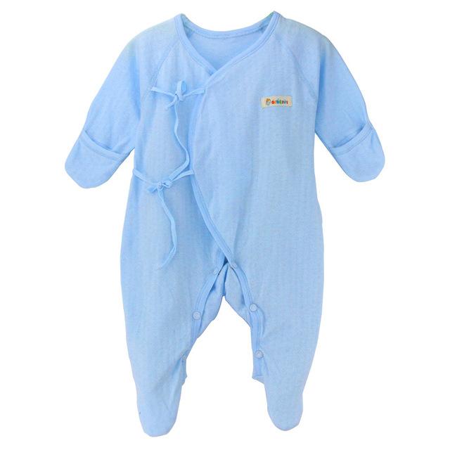 De calidad superior del Algodón de Primavera/verano Nuevos Niños Del Bebé de Una sola pieza de Ropa Chaqueta de Ropa de Bebé Recién Nacido Paquete de escalada Pie ropa