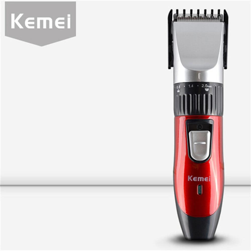 Kemei KM-730 Rechargeable Electric Hair Clipper Trimmer Hair Cutting Machine 220-240V Trimer Men Barber Haircut Trimmer Razor