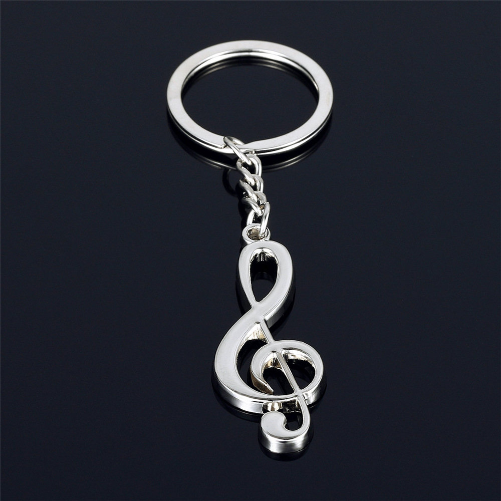 SAXOPHONE Blue Silver Plated Metal Alloy KEY CHAIN Ring Keychain NEW