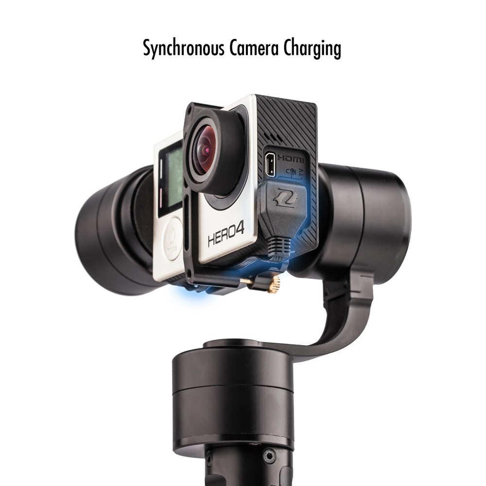 ZHIYUN Evolution 3-Axis спортивные ручной шарнирный стабилизатор для камеры Gopro для экшн-Камеры Gopro Hero/Yi 4 K/eken/SJCAM/Xiaomi пульт дистанционного управления для спортивной Камера