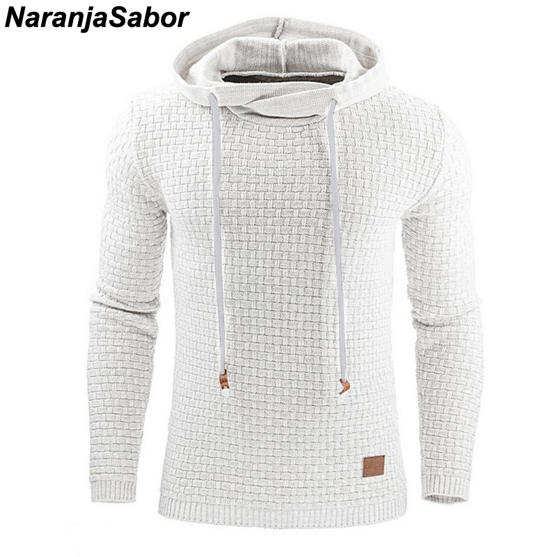 Autumn Men's Slim Hooded Sweatshirts 2