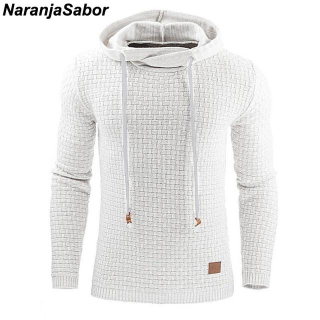 NaranjaSabor 2019 Autumn Men's Hoodies Slim Hooded Sweatshirts Mens Coats Male Casual Sportswear Streetwear Brand Clothing N461