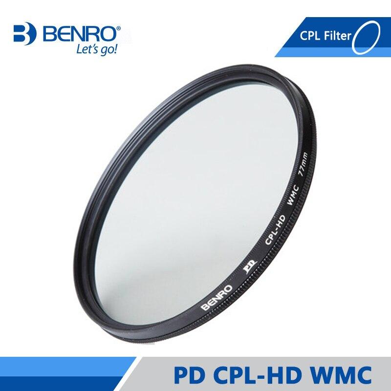 Benro PD CPL Filter PD CPL HD WMC Filters Waterdicht Anti olie Anti kras Circulaire Polarisator Filter Gratis Verzending-in Camerafilters van Consumentenelektronica op  Groep 1