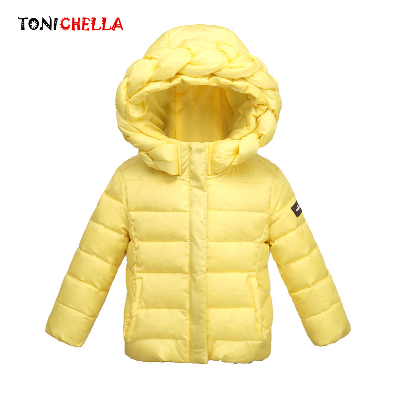 Duck Down Jacket For Girls  Winter Thick Kids Outwear Hooded Children Warm Soft Coat For 3-8 Years Girl Fashion Coat CL0903