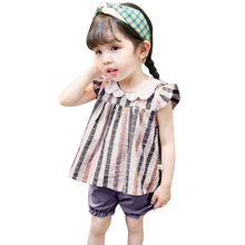 Toddler Kids Baby shirt girl Plaid Shirt Casual Princess blouse girl Tops Clothes odziez dla dzieci Dropshipping *30(China)