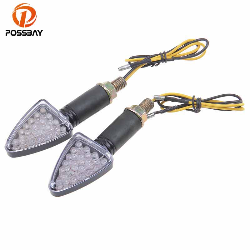 POSSBAY LED Light Motorcycle Turn Signals Flasher Indicators Scooter Blinker Light Universal fit for Harley Davidsion Suzuki