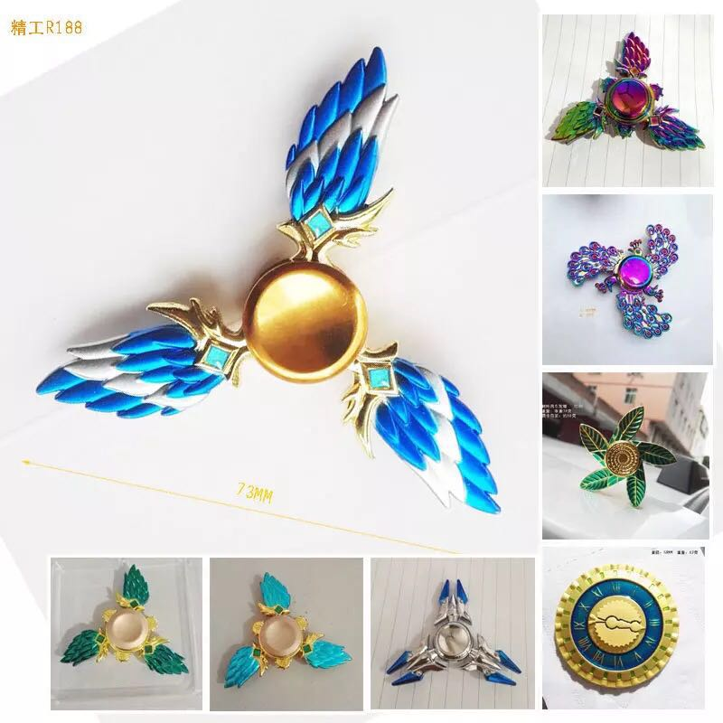 High Quality EDC Hand Spinner New Style Wing Tri Fidget Spinner For Autism and ADHD Rotation Time Long Anti Stress Toys Kid Gift mini fidget flying spinning spinner hand flying fidget spinner top toys for autism anxiety stress release toy great funny gift
