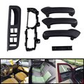 6pcs Black Door Handle Cover Bracket Grab Bezel Trim For 99-04 VW Golf Jetta MK4 Hot