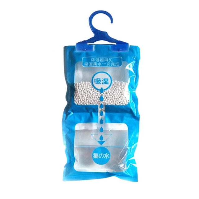 Hot 1pcs Wardrobe Dehumidifier Wardrobes Hanging Moisture Bags Drying Agent Hygroscopic Anti Mold Desiccant Bag