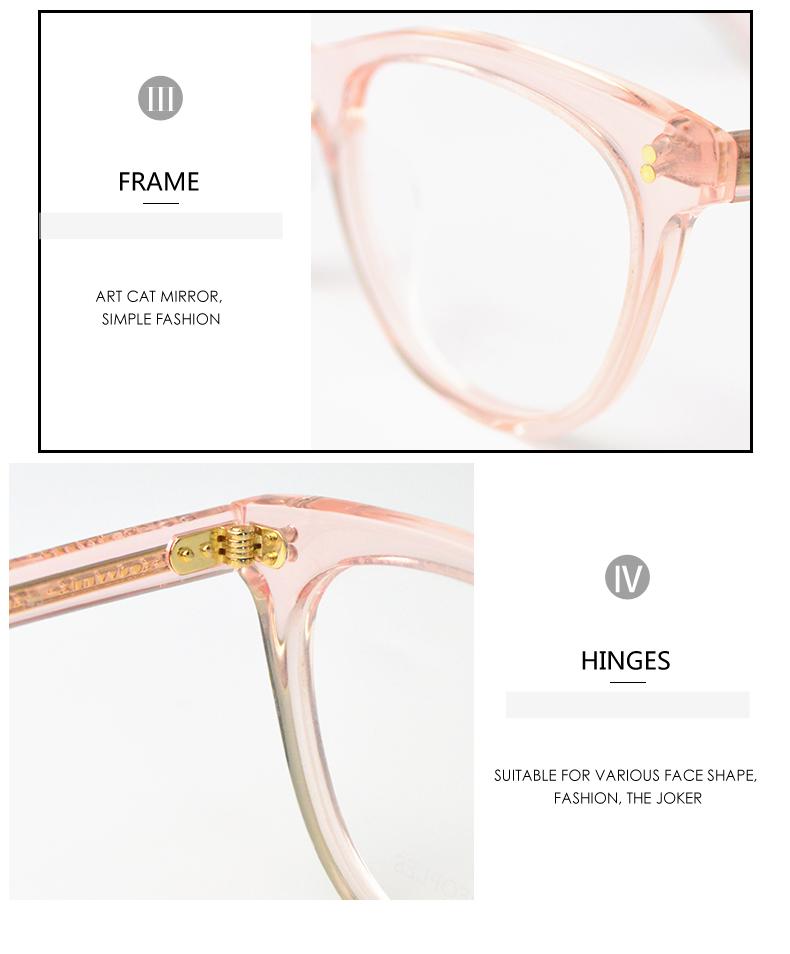 f1af1c2d66 2017 EE Men Women Optical Glasses Frames Prescription Lenses Myopia ...