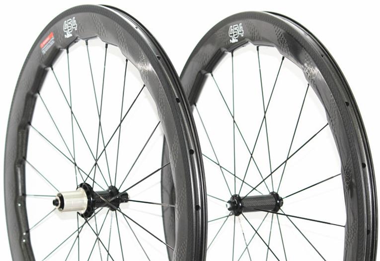 454 tubeless 58mm profondeur carbone route vélo roues 700c fossette surface carbone roues vélo pneu roue carbone alvéolé roues