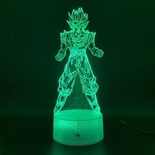 Decoration Crafts Dragon Ball Z Goku Figurines Led Night Light Birthday Gift for Kid Bedroom Decor Nightlight Vegeta Usb 3d Lamp