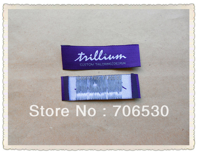 Free Shipping Customized Clothing Labels End Fold Garment Label Shirt Labels 1000pcs/lot