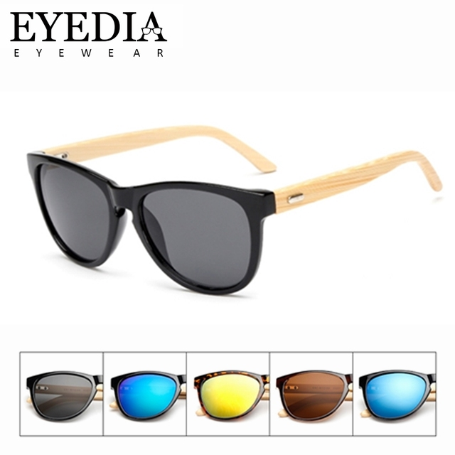73c6a98422 New Gift Customized Logo Name Retro Rectangle Mirror Sunglasses Women  Eco-friendly Bamboo Handmade Arms Sun Glasses Men L1503KP