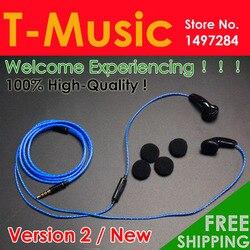 추천합니다! New Version2/Hifi T-Music DIY Earphone/3.5 미리메터 귀 3.5mm 헤드셋 와 마이크