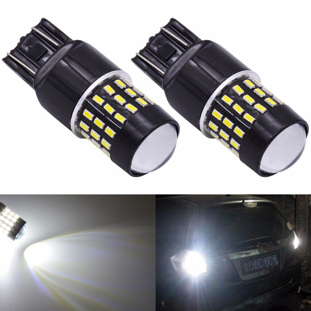 2pcs Super Bright Led T20 7443 w21/5w Car Light Led Brake Stop Parking Reverse Auto Lamp Bulb 12v Orange White Red Signal Led h3 led белый dc 12v день вождения 7 5 вт super car противотуманные фары лампочки авто