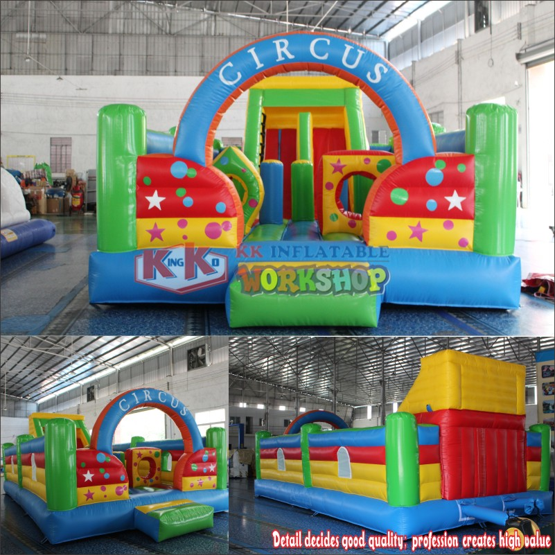 Commercial Inflatable Bouncer Circus Bounce Playground Fun City