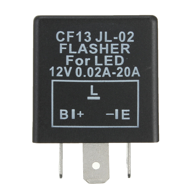 Universial 3 Pin Electronic Flasher Relay Module CF13 Fix LED Turn Signal Light Motorcycle Error Fast Flasher