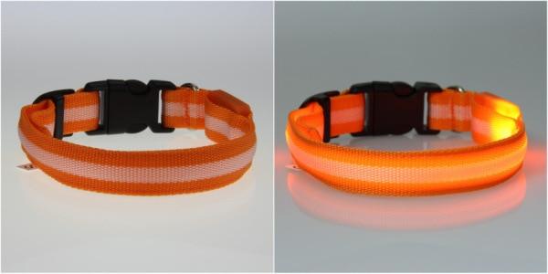 8 Warna S M L Ukuran Cahaya LED Dog Pet Cat Flashing Light Up Nylon - Produk hewan peliharaan - Foto 3
