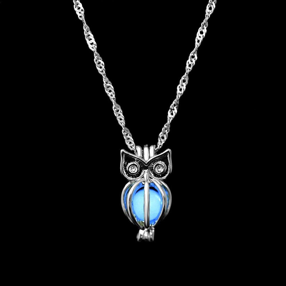 FAMSHIN-Fashion-Charm-Glowing-Owl-Pendant-Necklace-Cute-Luminous-Stone-Choker-3-Colors-Christmas-Gift-For (2)