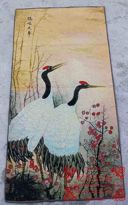 Handmade Embroidery Of Double Cranes To Send Birthday Gifts To The