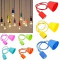 Silicone E27 Home Ceiling Pendant Lamp Light Bulb Holder Hanging Fixture Colors