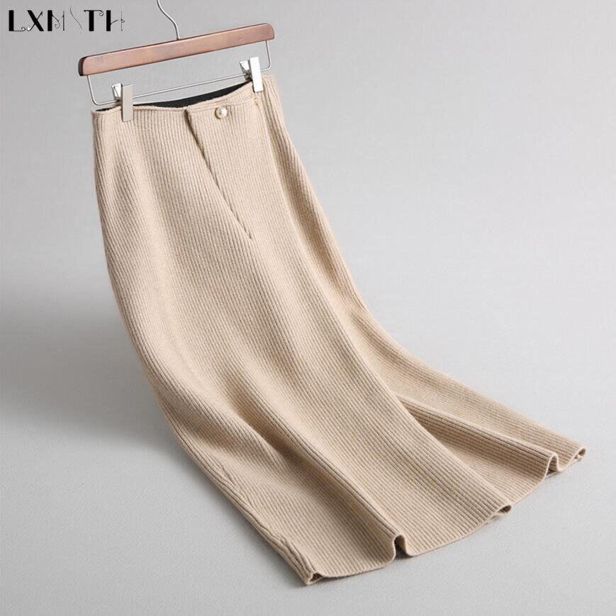 Вязаные юбки зима для женщин