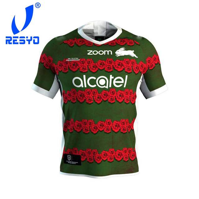 429685411ba Detail Feedback Questions about RESYO for South Sydney Rabbitohs 2019 Men's  Replica Commemorative Jersey Rugby Sport shirt Size:S 3XL Free Shipping on  ...