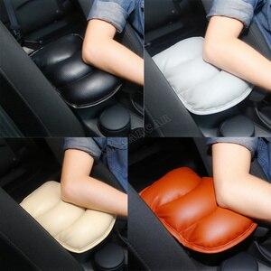 PU Auto Console Centrale Armsteun Zachte Pad Kussen Mat Voor Universele Autostoel Box Padding Beschermende Zachte Matten(China)