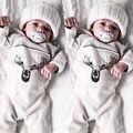 Orgánico Del Bebé, Niña, Niño Ropa de Manga Larga Ropa de Algodón Muchachas de Los Bebés Del Mameluco Del Mono Playsuit Conjuntos