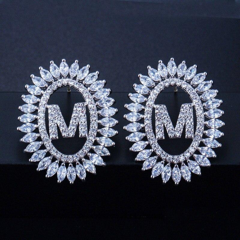 Letter Stud Earrings 2