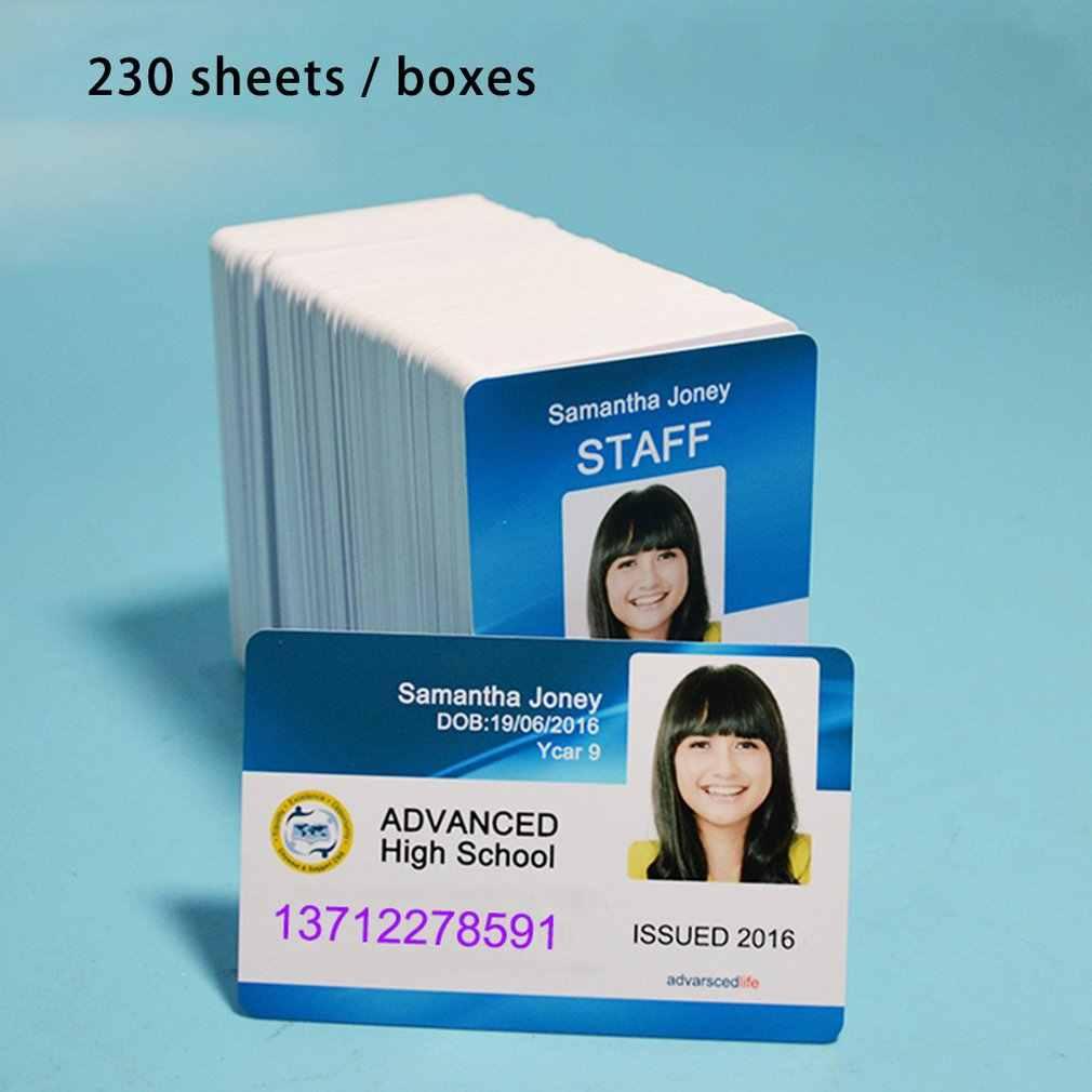 Putih Inkjet Cetak Blank PVC Kartu untuk Kartu Keanggotaan Klub Kartu ID Kartu Dicetak Oleh EPSON atau Canon Printer Inkjet 230 Pcs