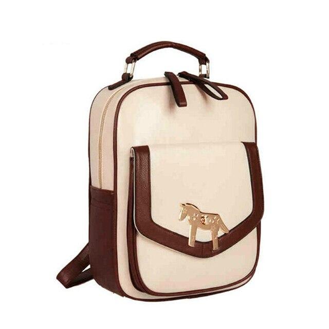 e0bd988d9a Women Leather Backpacks For Teenage Girls Fashionable Mochila Feminina Cute  Mini Backpack For Outdoor Travel Notebook Rucksack