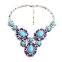 Biżuteria damska Super Zajmuje Moda Kobiety 2015 Kryształ Best Friend Niebieski Klejnot Wisiorek Naszyjnik