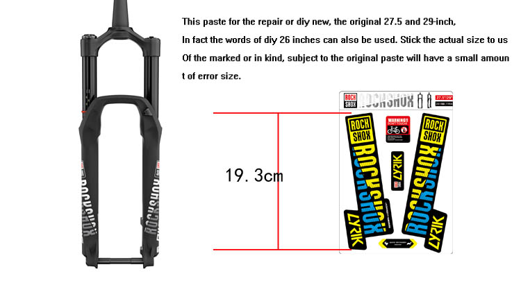 Image 5 - 2018 rockshox LYRIK mountain bike front fork stickers bicycle front fork decals-in Bicycle Stickers from Sports & Entertainment