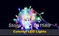 10 m 100 wit blauw lichten decoratieve christmas party festival twinkle string lights lamp 220 v eu gratis verzending