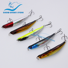 5PCS/Lot 9cm 7.5g Fishing Lure Hard Bait Pencil Lure with Treble Hooks pesca Artificial Bait Plastic Hard leurre