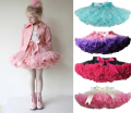 Fashion Fluffy Chiffon Pettiskirts tutu Baby Girls Skirts Princess skirt dance wear Party clothes 18M-10 Ys 22 colors