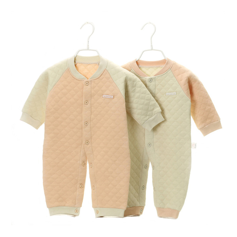 2016 Autumn Winter Newborn Baby Boy Clothes Organic Cotton Baby Rompers Infant Jumpsuit Girls Body Baby Clothes New Born YJM103 newborn baby clothes winter baby boy clothes cotton romper jumpsuit gentleman costume baby rompers infant boy clothes 0 12m