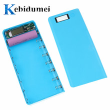 kebidumei Hot sale 5V Dual USB 18650 Power Bank Battery Box Mobile Phone Charger DIY Shell Case For iphone6 Plus S6 xiaomi(China)
