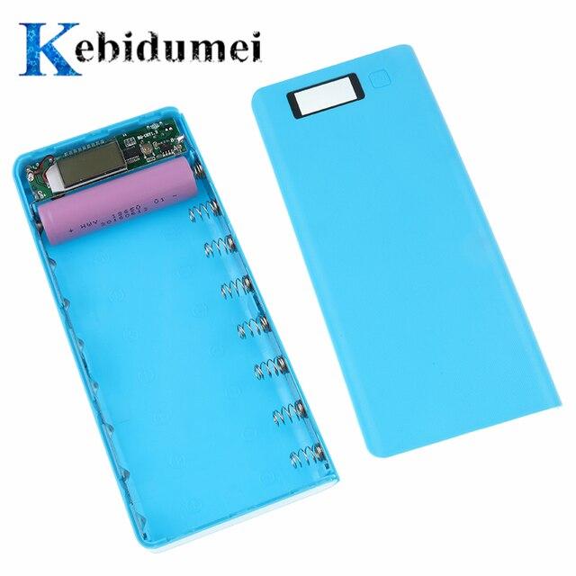 Kebidumei bán 5 V USB 18650 Dual Power Bank Hộp Sạc Điện Thoại Di Động TỰ LÀM Vỏ Dành Cho iPhone6 plus S6 Xiaomi