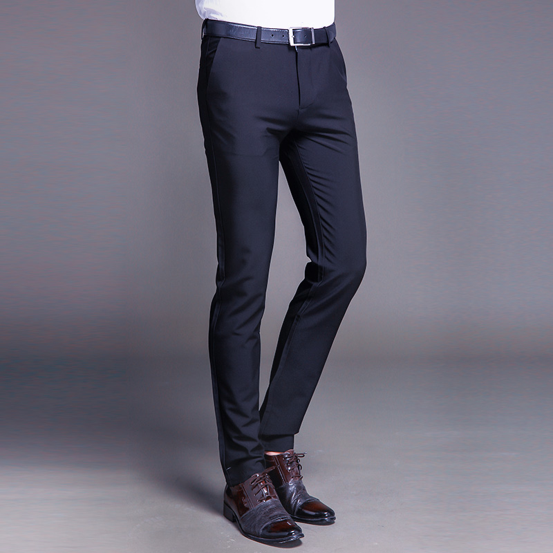 Cotton Classic Business Mens Suit Pants